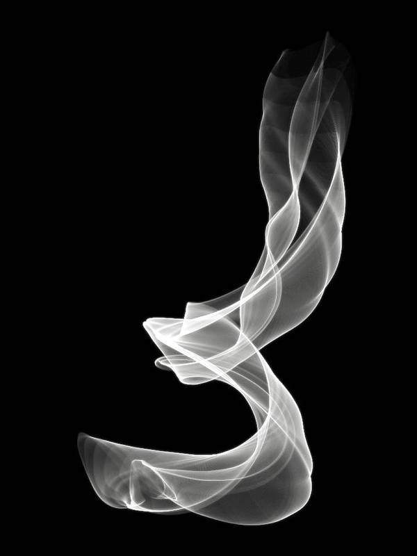 Smoke Print featuring the digital art White Smoke by Matthew Angelo
