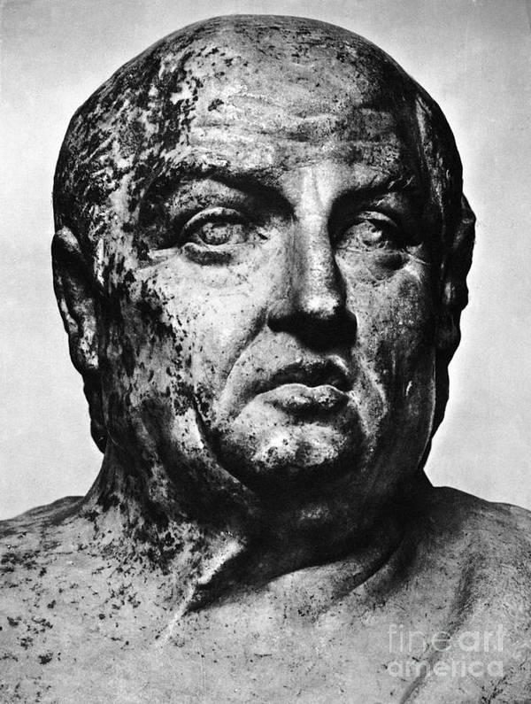 1st Century B.c Print featuring the photograph Lucius Annaeus Seneca by Granger