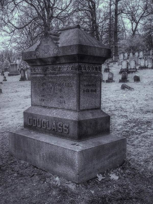 Frederick Douglass Print featuring the photograph Frederick Douglass Grave One by Joshua House