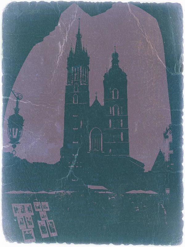 Krakow Print featuring the photograph Krakow by Naxart Studio