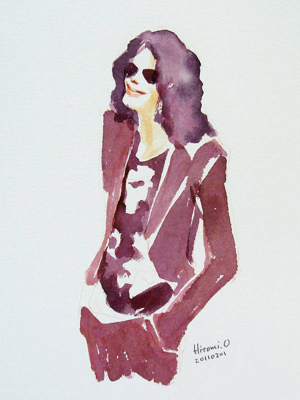Michael Jackson Print featuring the painting Mj 2009 by Hitomi Osanai