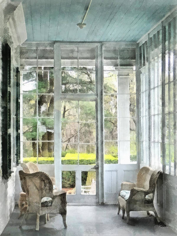 Porch Print featuring the photograph Sun Porch by Susan Savad