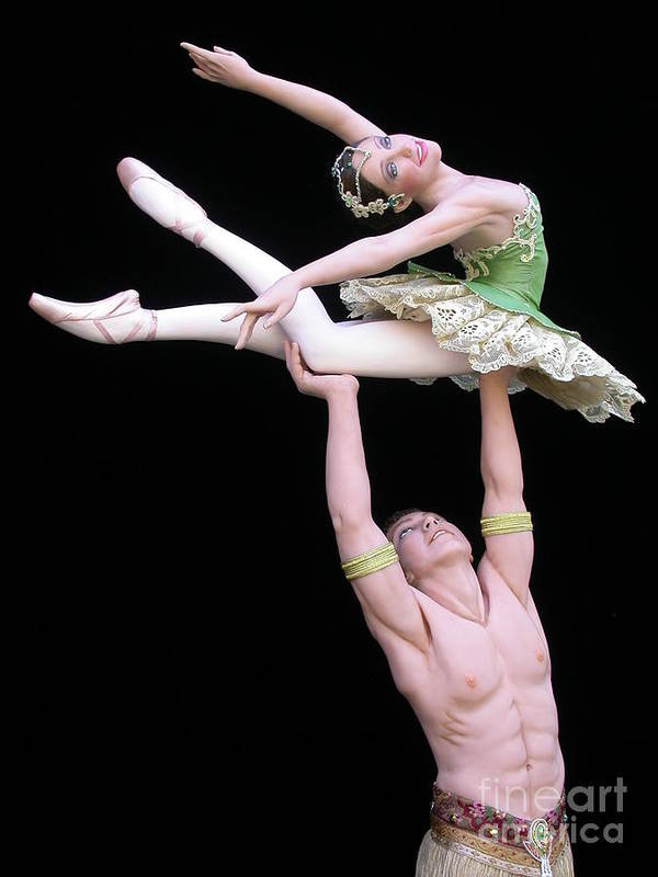 Ballet Print featuring the sculpture Celle Qui Vole by Vickie Arentz