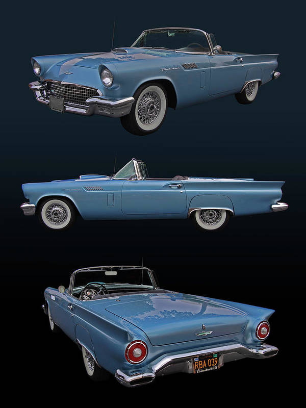 57 Print featuring the photograph 1957 Ford Thunderbird by Bill Dutting