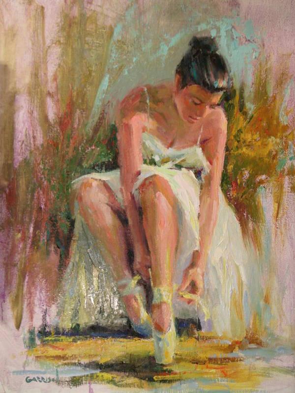 Ballerina Print featuring the painting Ballerina by David Garrison