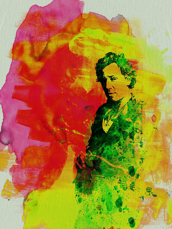 Bruce Springsteen Print featuring the painting Bruce Springsteen by Naxart Studio