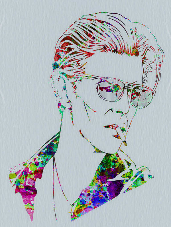 David Bowie Print featuring the painting David Bowie by Naxart Studio