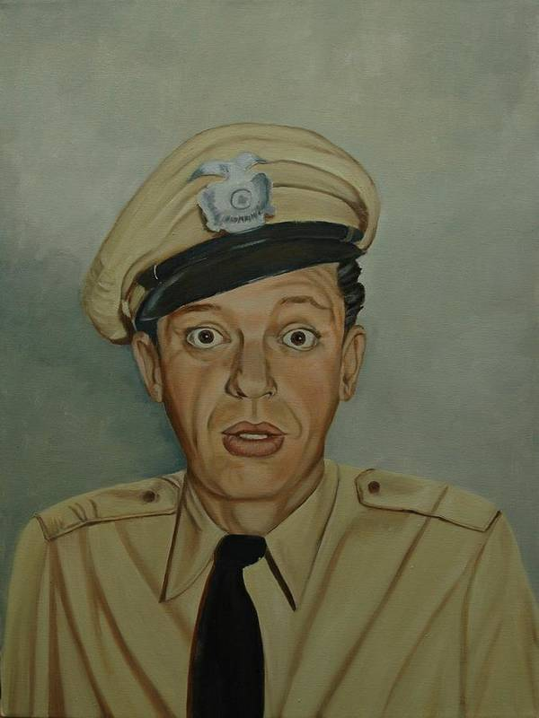 Barney Print featuring the painting Don Knotts As Barney Fife by Tresa Crain