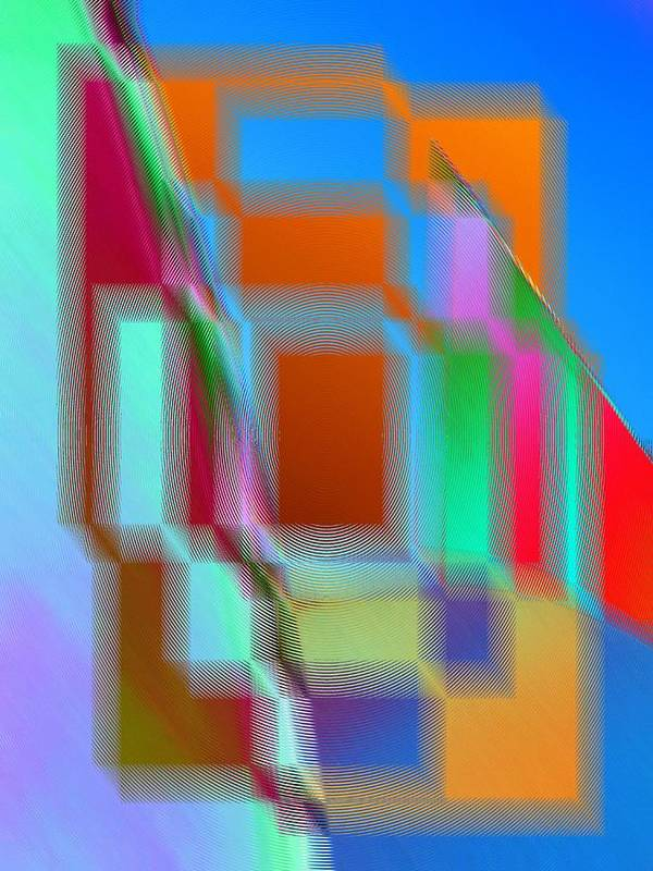 Abstract Print featuring the digital art Good Vibrations by Tim Allen