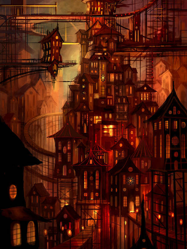 Surreal Print featuring the painting Illuminations by Philip Straub