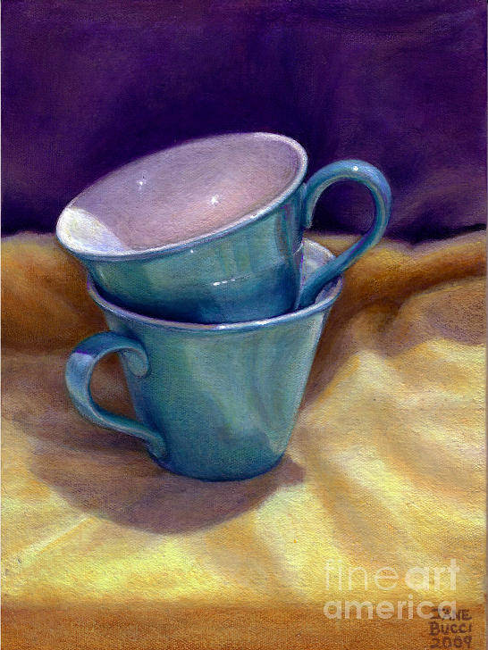 Still Life Print featuring the painting Into Cups by Jane Bucci