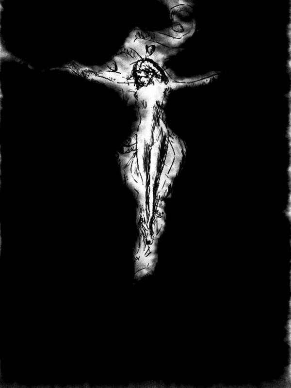 Eve Print featuring the painting Lilith by Bob Orsillo