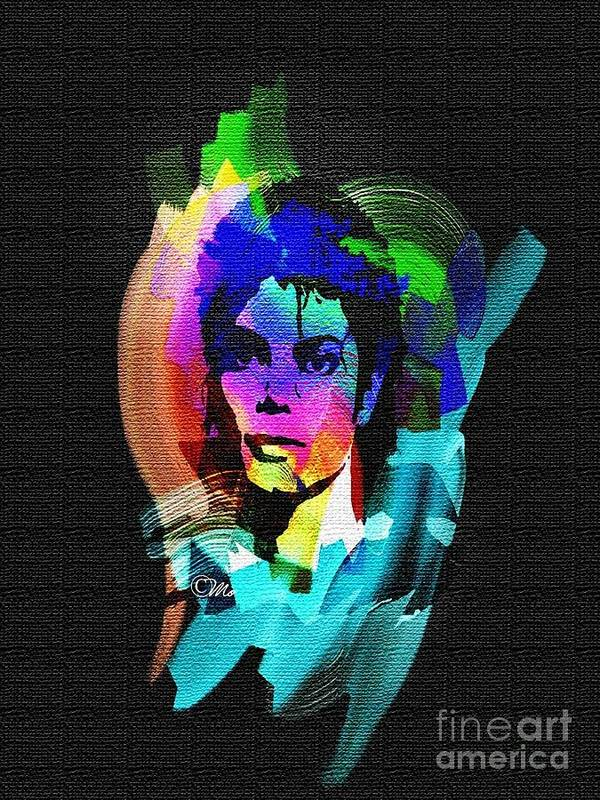 Michael Jackson Print featuring the digital art Michael Jackson by Mo T
