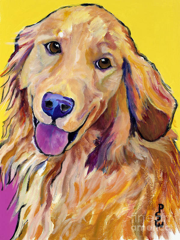 Acrylic Paintings Print featuring the painting Molly by Pat Saunders-White
