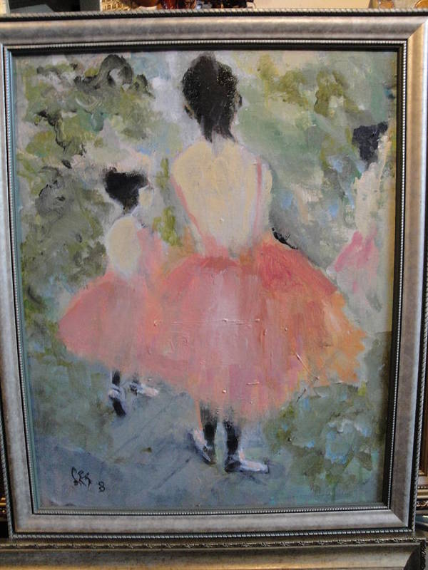 Ballet Print featuring the painting Pink Ballet by Les Smith