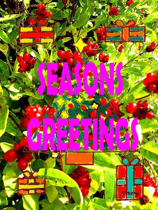 Christmas Print featuring the painting Seasons Greetings 10 by Patrick J Murphy