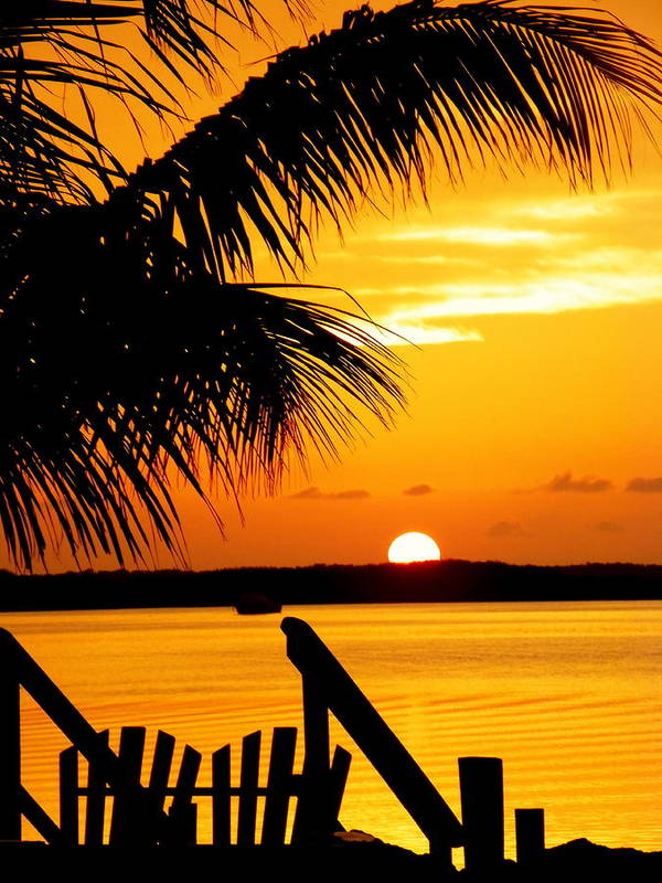 Sunsets Print featuring the photograph The Promise by Karen Wiles