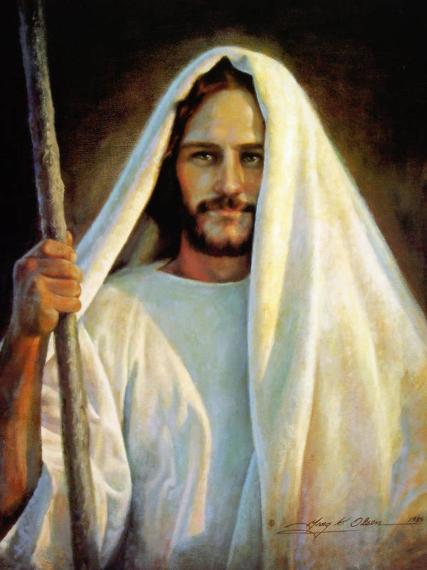 Jesus Print featuring the painting The Savior by Greg Olsen