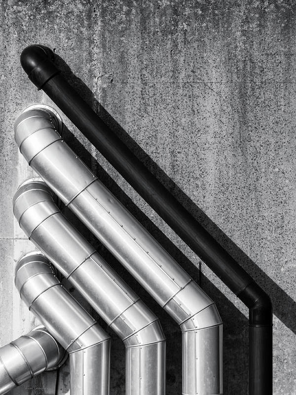 Water Print featuring the photograph Water Pipes by Wim Lanclus