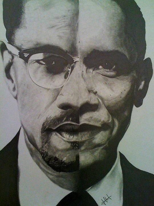 Barack Obama Print featuring the drawing Xobama by Jane Nwagbo