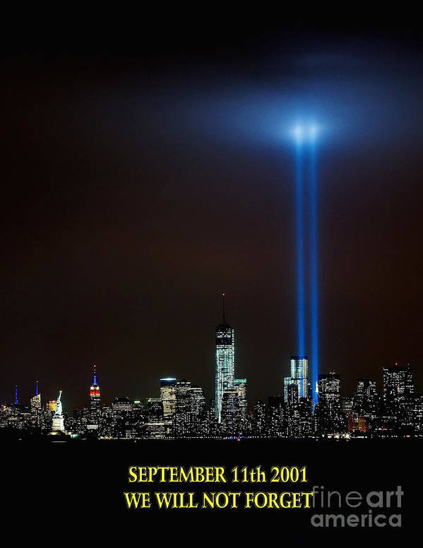 /11 Print featuring the photograph 9/11 Tribute by Nick Zelinsky