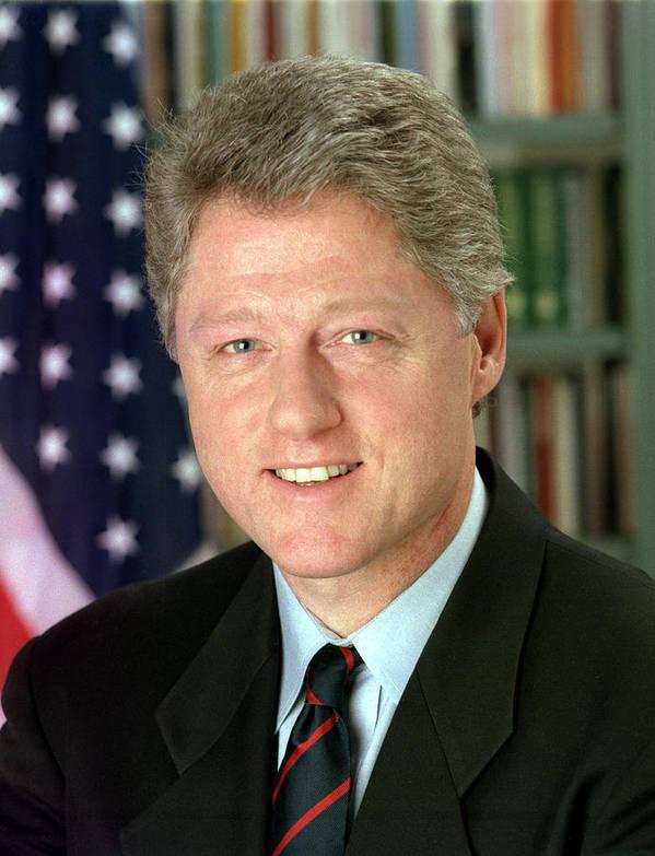 Bill Clinton Print featuring the digital art Bill Clinton by Georgia Fowler
