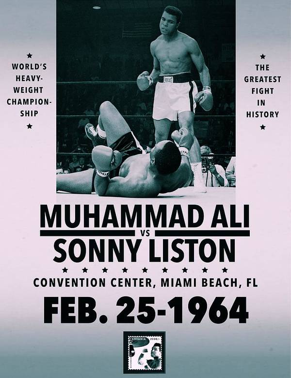 Muhammad Ali Poster Print featuring the digital art Muhammad Ali Poster by Dan Sproul