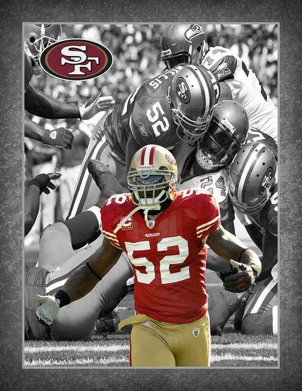 Patrick Willis Print featuring the photograph Patrick Willis 49ers by Joe Hamilton
