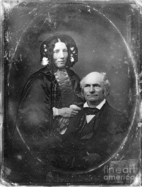 1852 Print featuring the photograph Harriet Beecher Stowe by Granger
