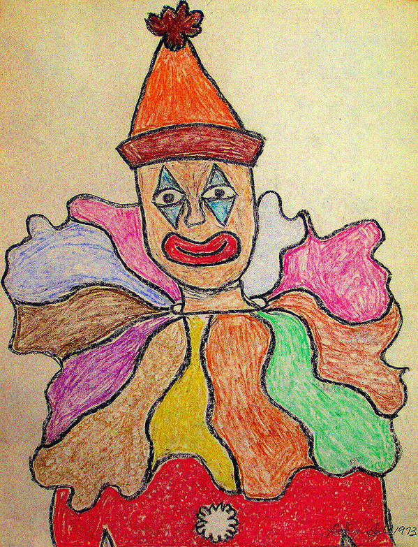 Pastel Print featuring the pastel Happy Clown by Robyn Louisell