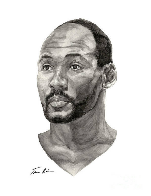 Karl Malone Print featuring the painting Karl Malone by Tamir Barkan