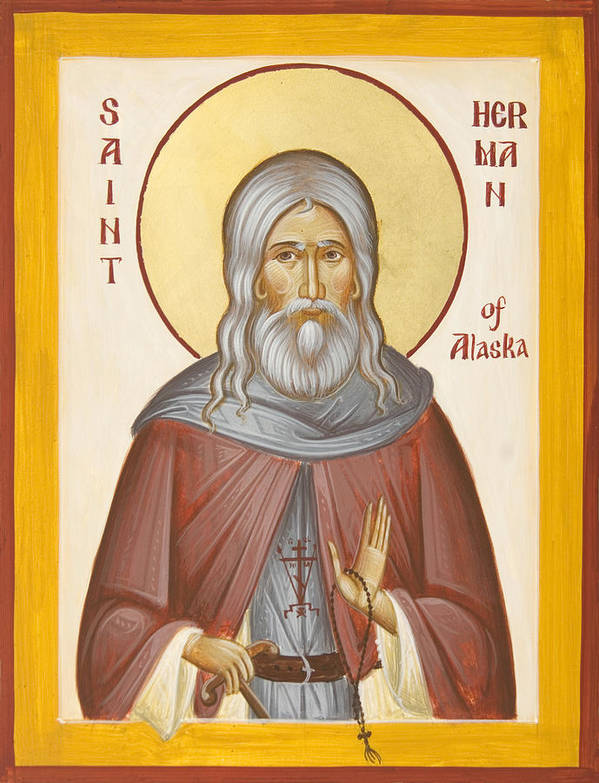 St Herman Of Alaska Print featuring the painting St Herman Of Alaska by Julia Bridget Hayes