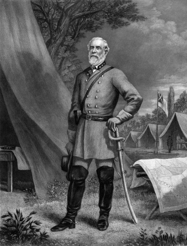 Robert E Lee Print featuring the drawing General Robert E. Lee by War Is Hell Store