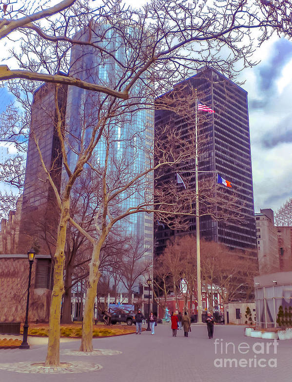 Urban Print featuring the photograph Manhattan by Claudia M Photography