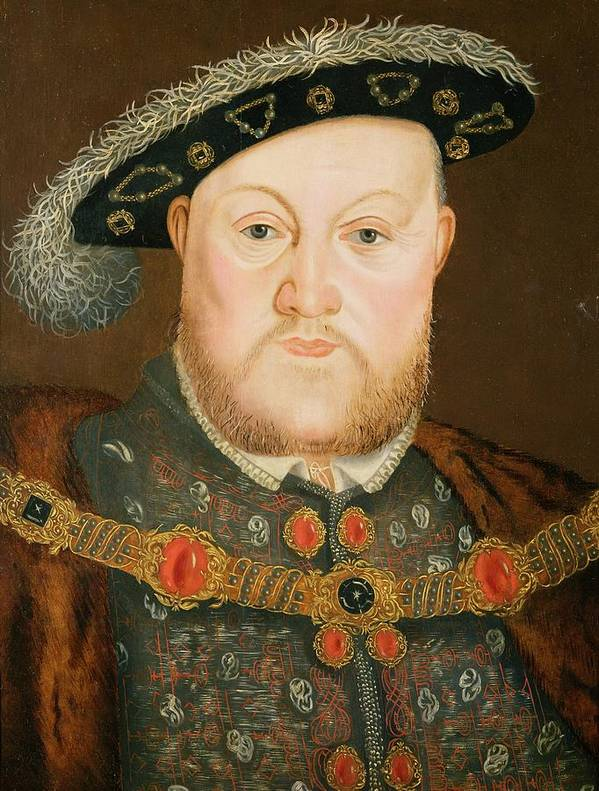 Portrait Print featuring the painting Portrait Of Henry Viii by English School