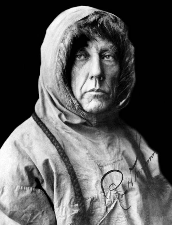 1920s Portraits Print featuring the photograph Roald Amundsen, The First Person by Everett