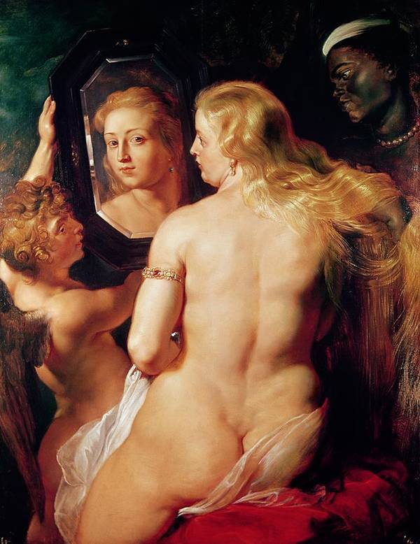 The Print featuring the painting The Toilet Of Venus by Peter Paul Rubens
