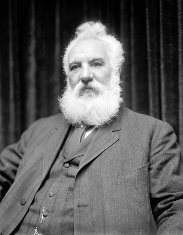 Alexander Graham Bell Print featuring the photograph Alexander G. Bell, Scottish-us Inventor by Science Photo Library