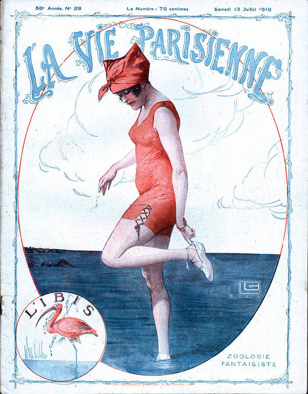 1910�s Print featuring the drawing La Vie Parisienne 1918 1910s France by The Advertising Archives