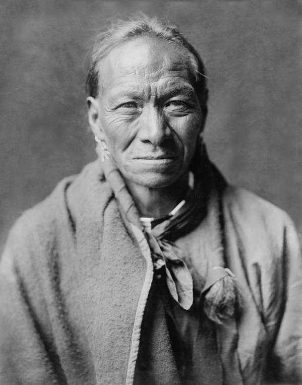 1905 Print featuring the photograph Taos Indian Circa 1905 by Aged Pixel