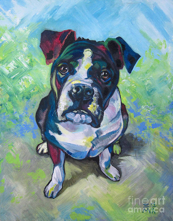 Dog Print featuring the painting The Dog by Ellen Marcus