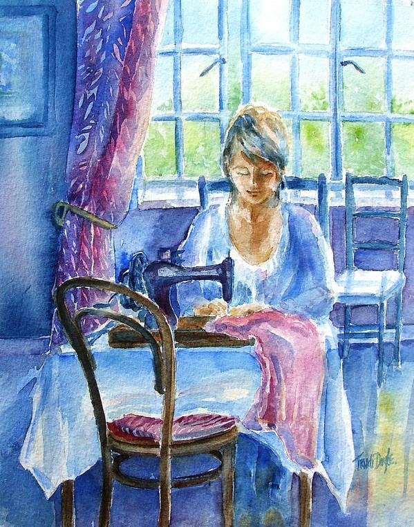 Seamstress Print featuring the painting The Seamstress by Trudi Doyle