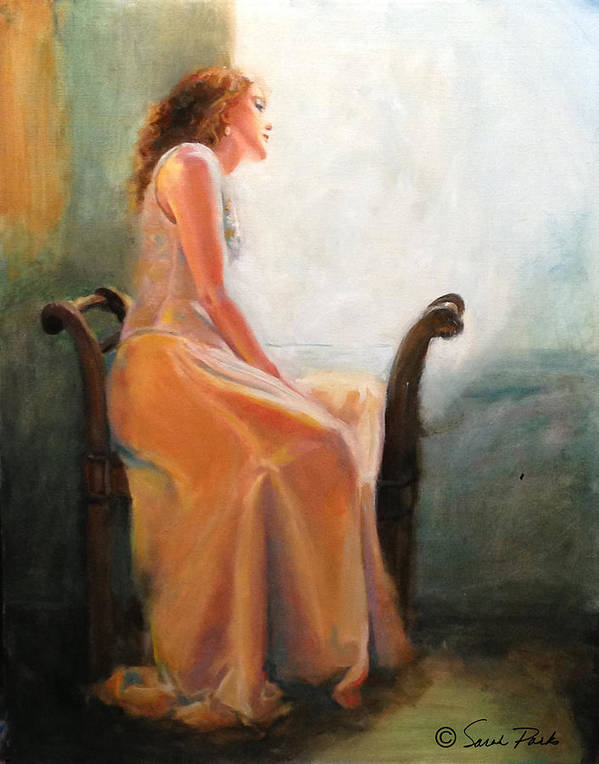 Figurative Print featuring the painting Waiting by Sarah Parks