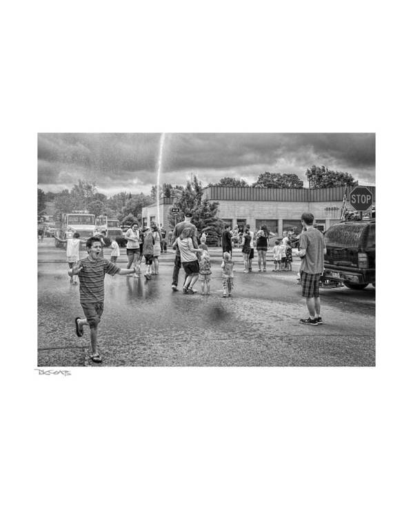 People Print featuring the photograph Water Fight by David Coats