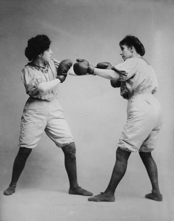 Bennett Print featuring the photograph Woman Boxing by Digital Reproductions