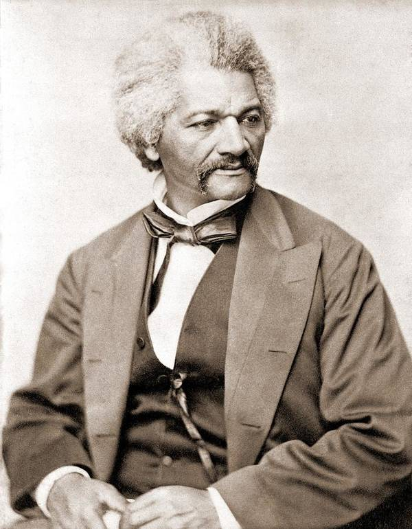 History Print featuring the photograph Frederick Douglass 1818-1895, Former by Everett