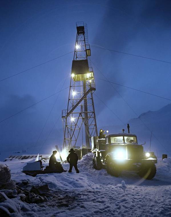 Human Print featuring the photograph Geothermal Power Station Drilling by Ria Novosti