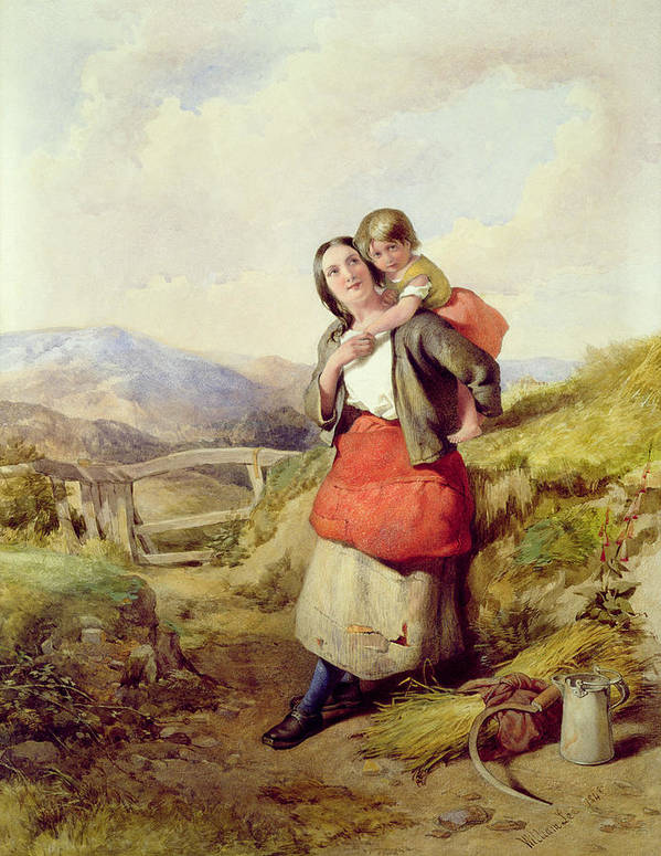 Mother Print featuring the painting Going Home by William Lee