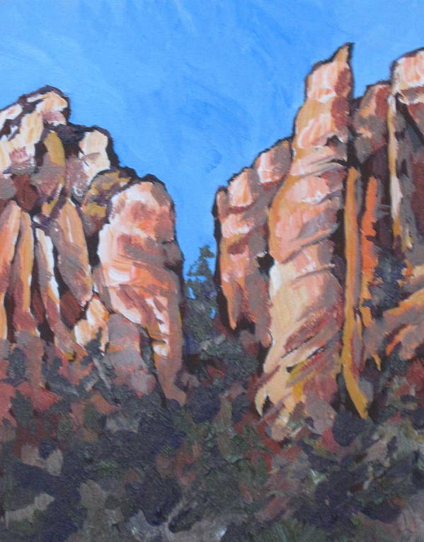 Sedona Print featuring the painting Oak Creek Canyon by Sandy Tracey