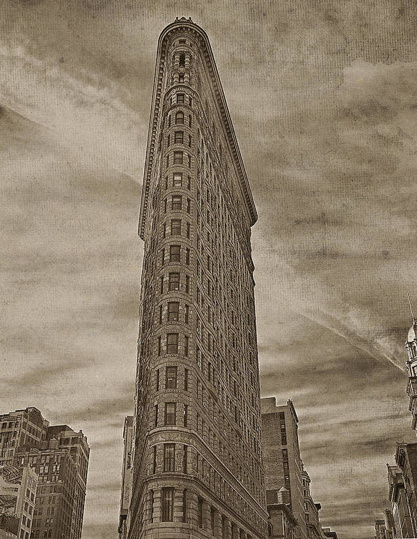 Flat Iron Building Print featuring the photograph The Flat Iron Building by Kathy Jennings
